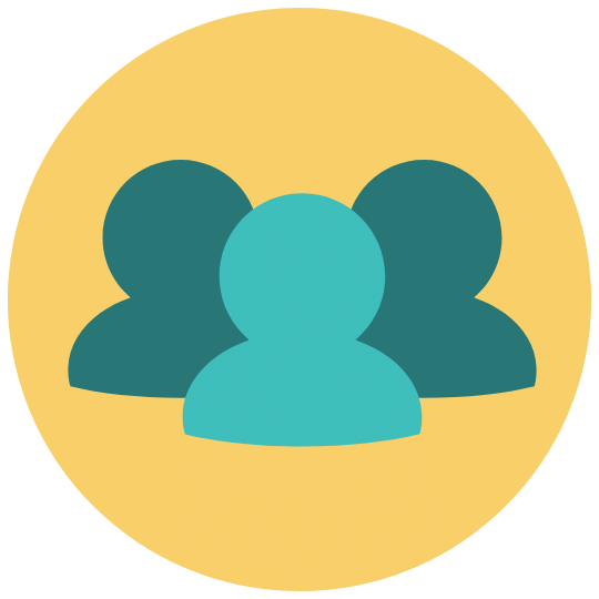 group icon with yellow background